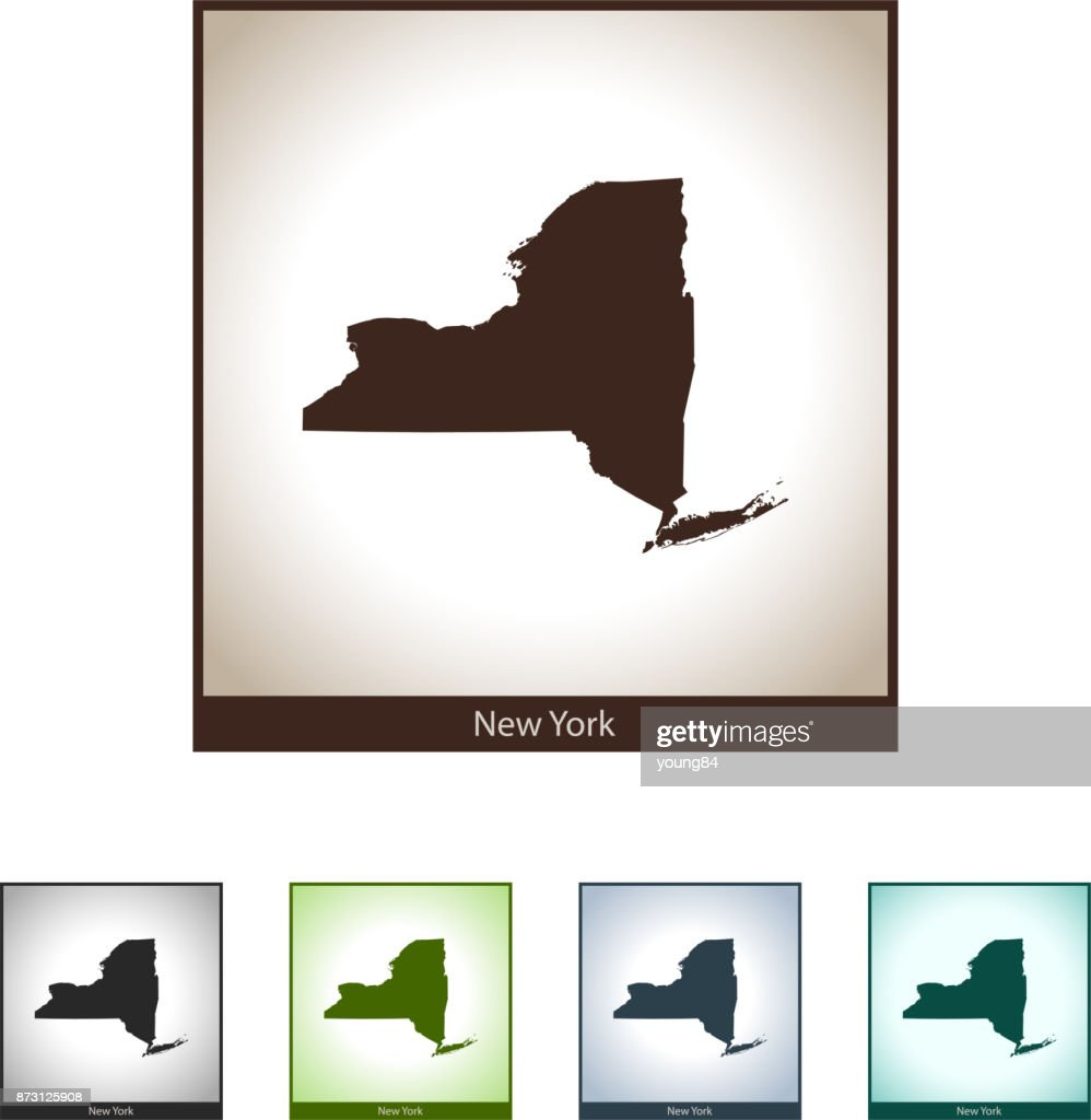 New York Map Vector Art Getty Images