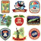 New York metropolitan area travel stickers