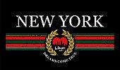 New York, modern typography for tee print