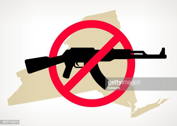 New York No Gun Violence Vector Poster