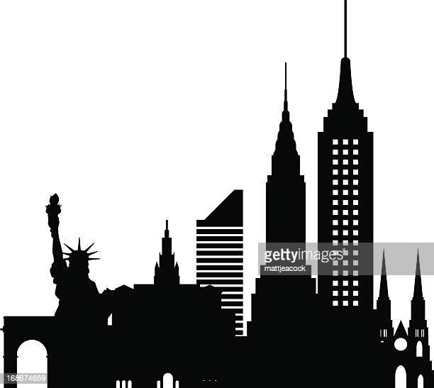new york skyline - empire state building stock illustrations, clip art, cartoons, & icons
