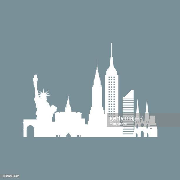 new york skyline - chrysler building stock illustrations, clip art, cartoons, & icons