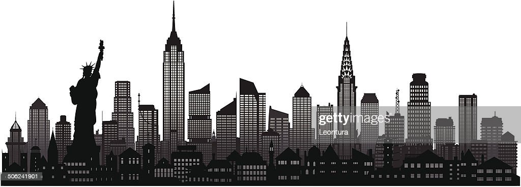 new york skyline vector art getty images. Black Bedroom Furniture Sets. Home Design Ideas