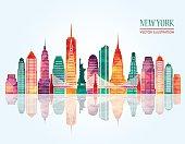 New York skyline. Vector illustration
