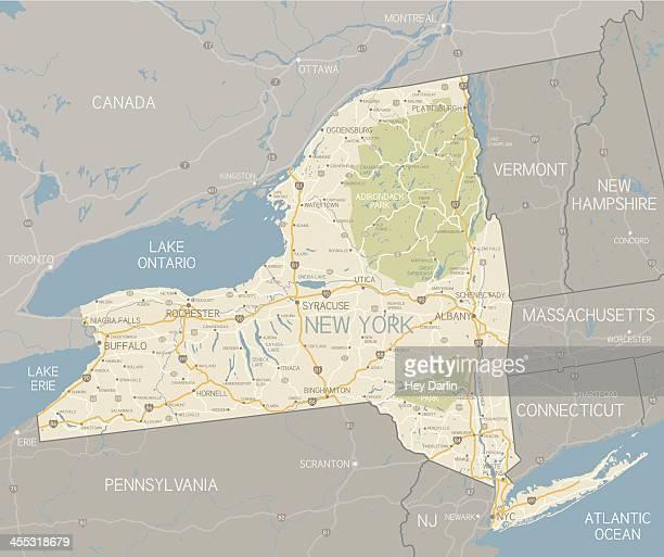 New York State Karte
