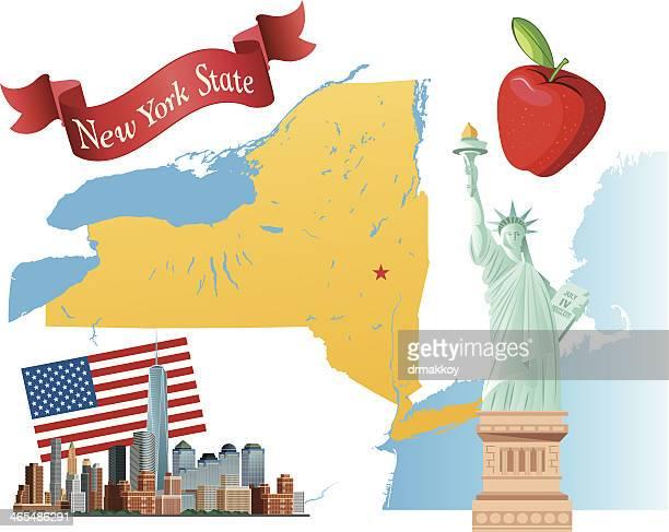 new york state - ellis island stock illustrations, clip art, cartoons, & icons
