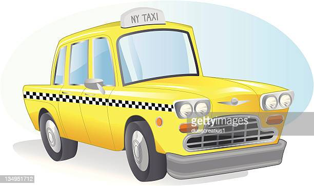 new york taxi - yellow taxi stock illustrations, clip art, cartoons, & icons