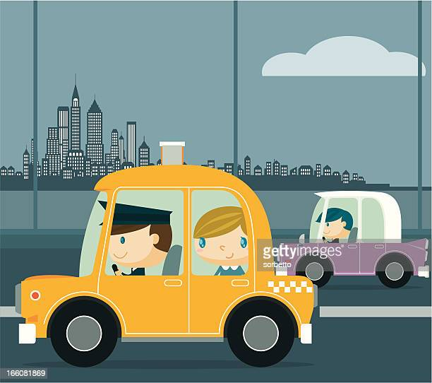 new york taxi - taxi stock illustrations, clip art, cartoons, & icons