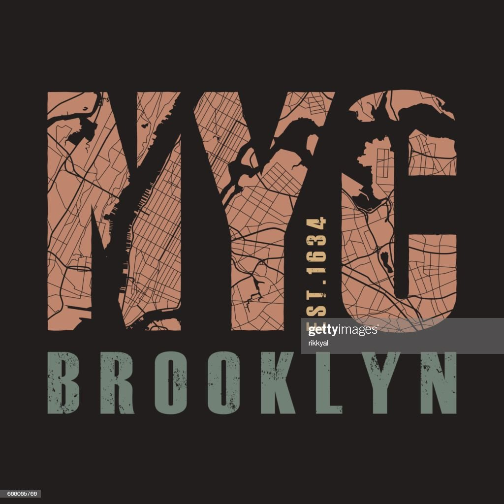 New York tee print. Vector illustration.