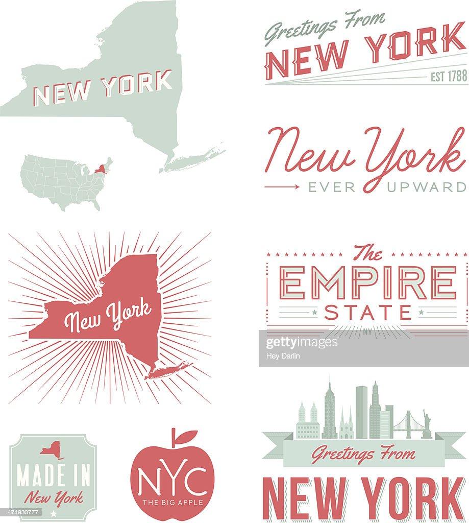 New York Typography : stock illustration