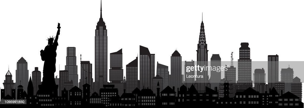 New York (All Buildings Are Moveable and Complete) : stock illustration