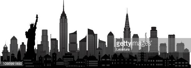 new york (all buildings are moveable and complete) - skyline stock illustrations