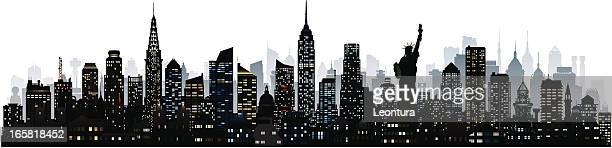 new york (124 detailed, moveable and complete buildings) - chrysler building stock illustrations, clip art, cartoons, & icons
