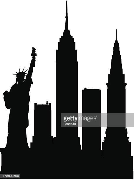 new york (each building is moveable and complete) - chrysler building stock illustrations, clip art, cartoons, & icons