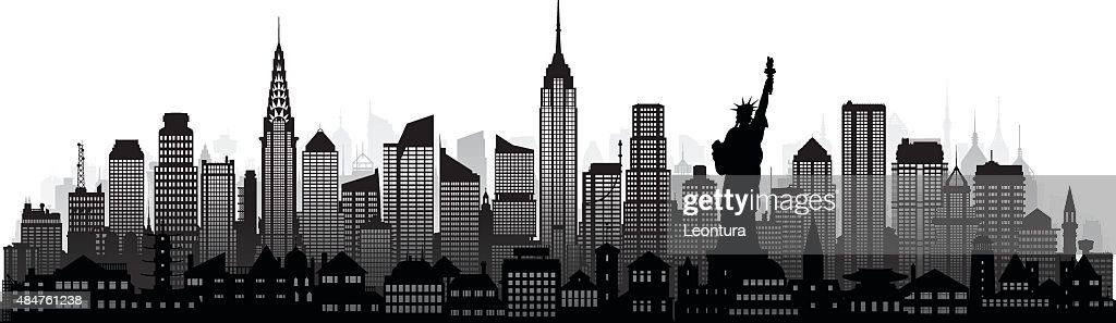 New York (Complete, Detailed, Moveable Buildings) : stock illustration