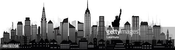 new york (complete, detailed, moveable buildings) - empire state building stock illustrations, clip art, cartoons, & icons