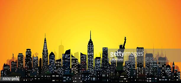 new york (124 detailed, complete, moveable buildings) - chrysler building stock illustrations, clip art, cartoons, & icons