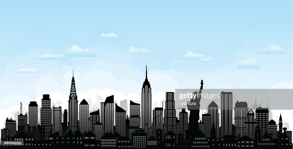 New York (All Buildings Are Complete and Moveable) : stock illustration