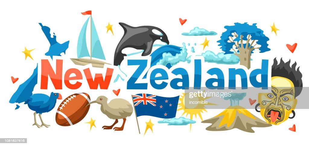 New Zealand background design.