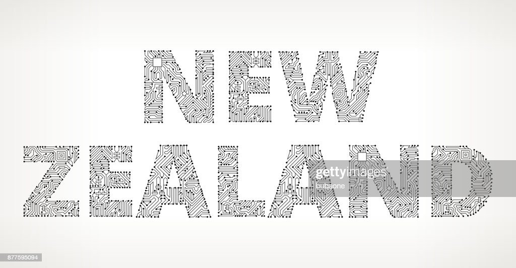 New Zealand Circuit Board Vector Buttons Vector Art   Getty Images