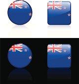 New Zealand Flag Button Set