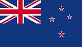 New Zealand flag icon in flat style. National sign vector illustration. Politic business concept.