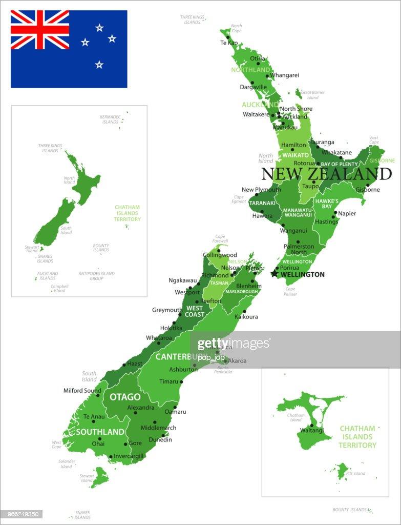 15 - New Zealand - Green Isolated 10