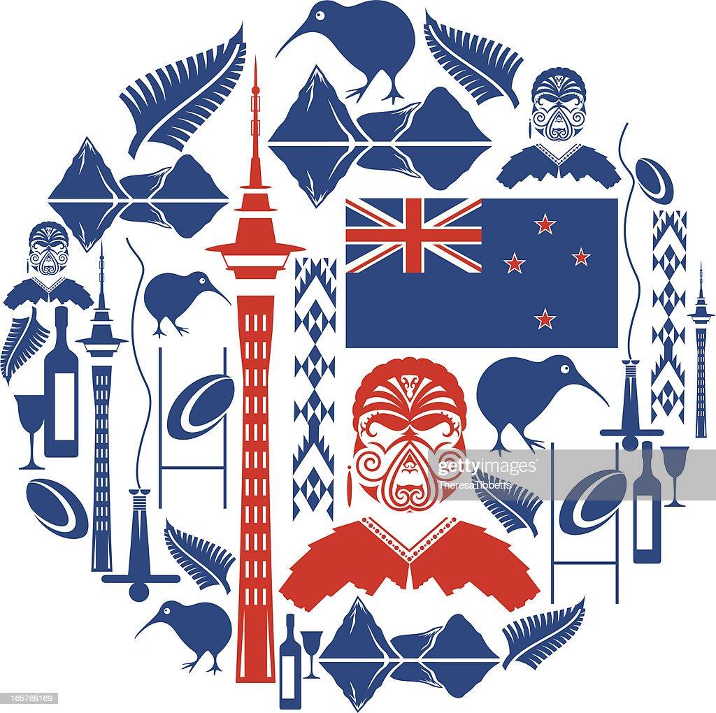 New Zealand Icon Montage