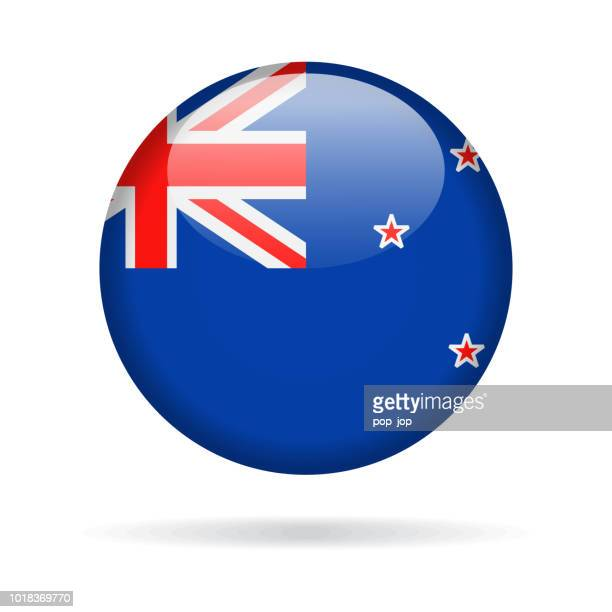 New Zealand - Round Flag Vector Glossy Icon