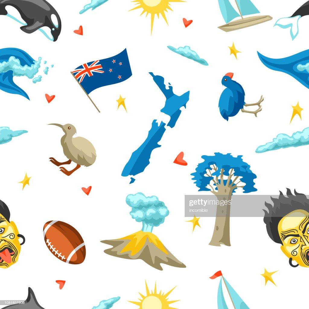 New Zealand seamless pattern.
