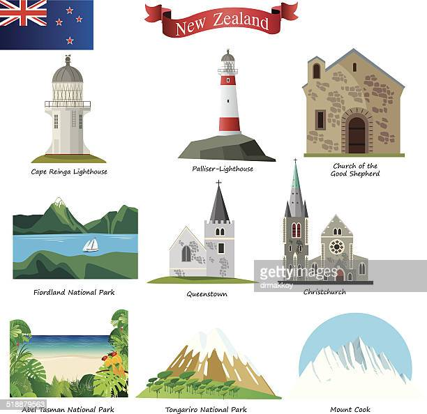 new zealand - new zealand stock illustrations