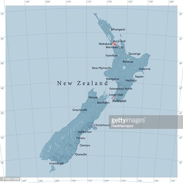 New Zealand Vector Road Map