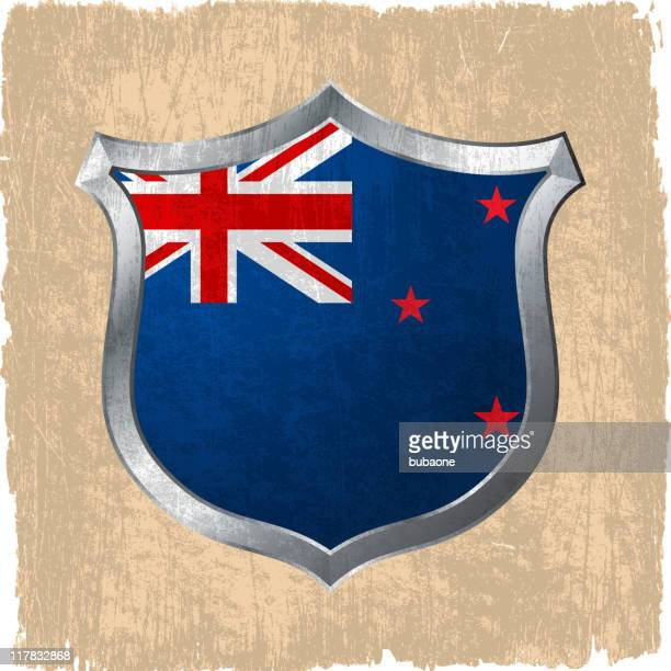 New Zeland Flag on royalty free vector Background
