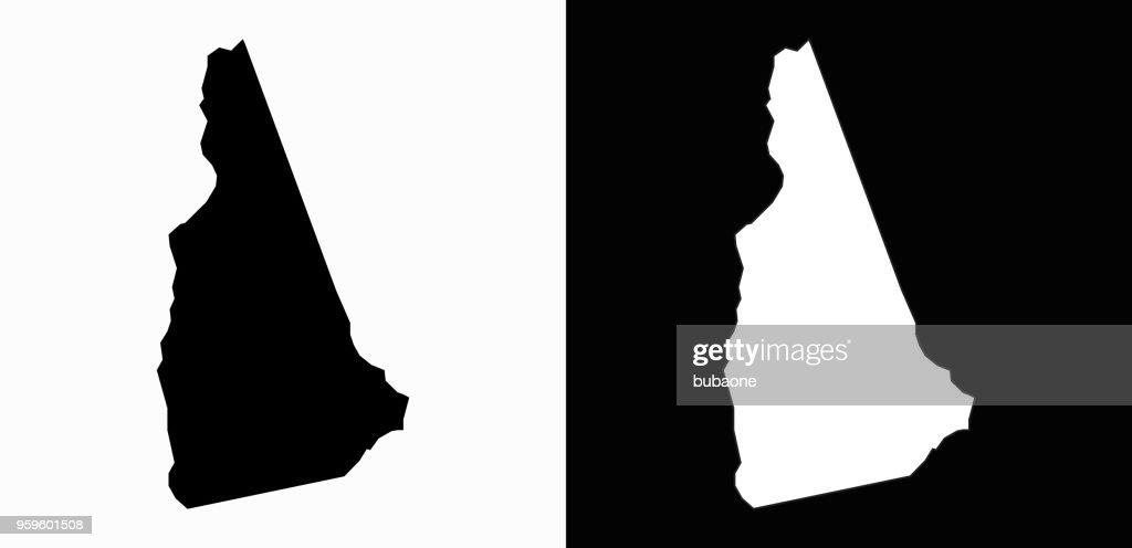 New_Hampshire staatliche schwarz-weiß einfache Karte : Stock-Illustration