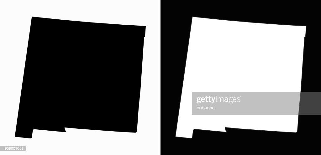 New_Mexico staatliche schwarz-weiß einfache Karte : Stock-Illustration
