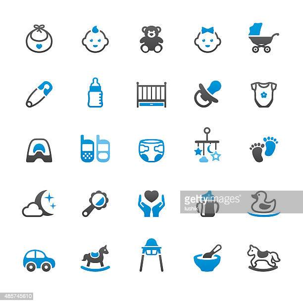Newborn and Baby Goods related vector icons