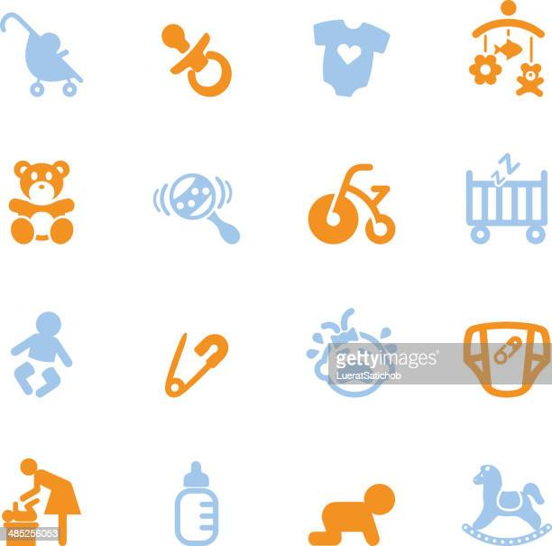 Newborn baby Color Series icons | EPS10