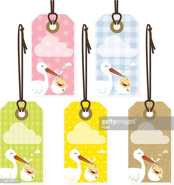 ilustraciones, imágenes clip art, dibujos animados e iconos de stock de recién nacido etiquetas - baby blanket
