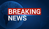 News broadcast background, breaking news vector channel graphic concept for tv breaking news