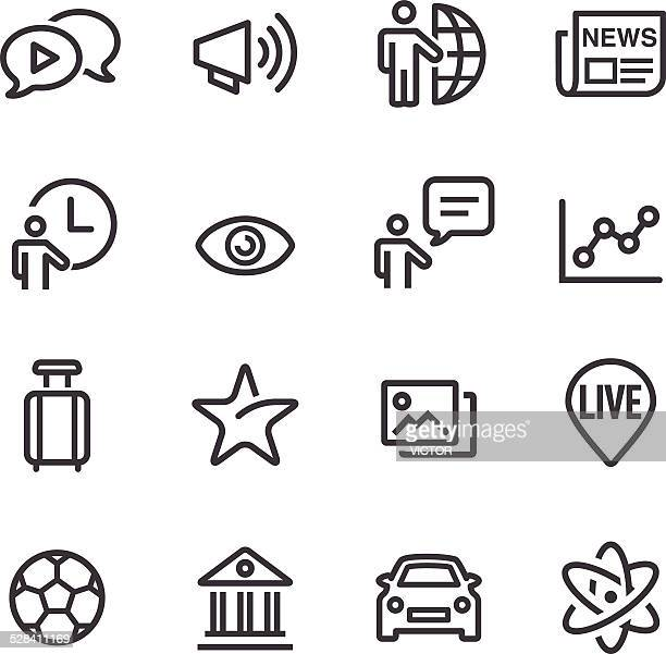 News Category Icons - Line Series