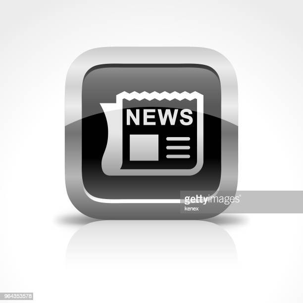 news communication glossy button icon - proofreading stock illustrations, clip art, cartoons, & icons