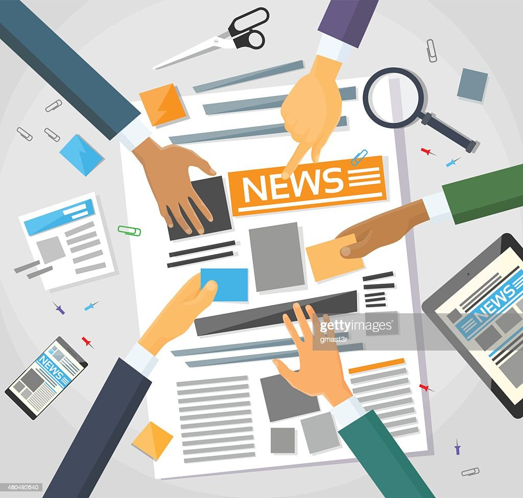 News Editor Desk Workspace, Making Newspaper Creating Arcticle