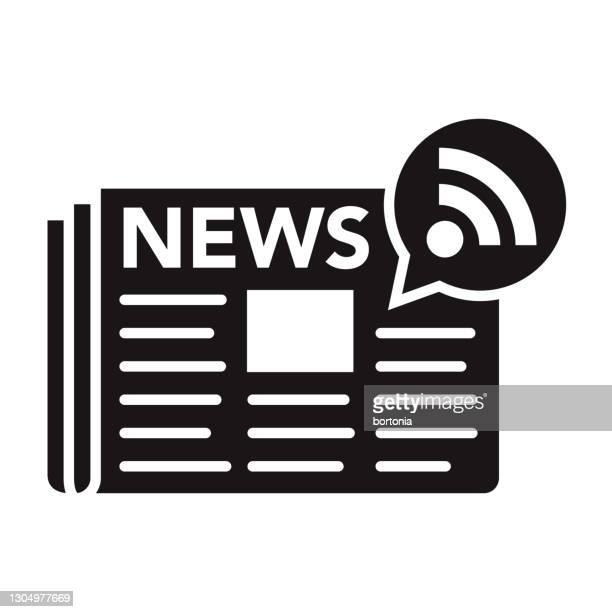 ニュース フィード ソーシャル メディア グリフ アイコン - シンジケーション点のイラスト素材/クリップアート素材/マンガ素材/アイコン素材