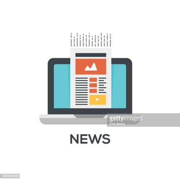 ilustrações, clipart, desenhos animados e ícones de ícone de notícias - jornal
