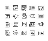 News Icons Set - Classic Line Series