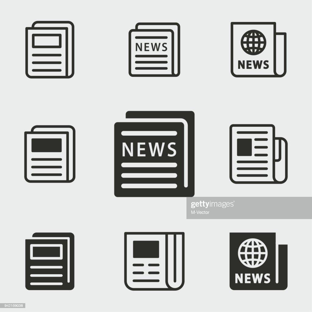 News icons set.