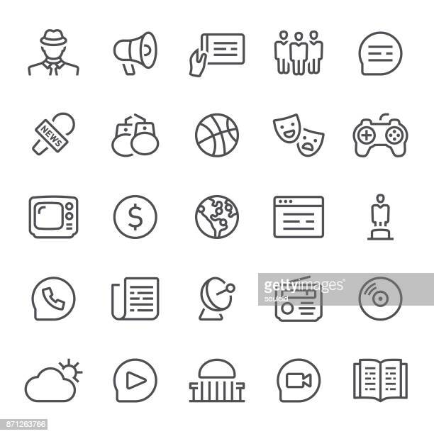 news icons - journalism stock illustrations