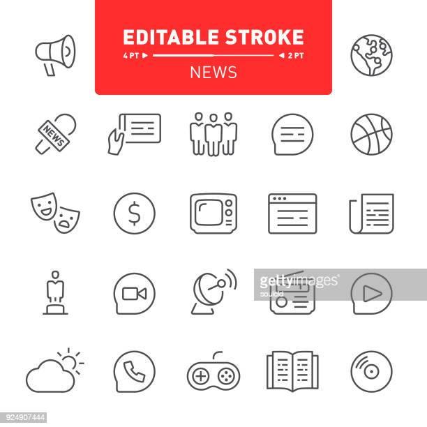 nachrichten-symbole - journalismus stock-grafiken, -clipart, -cartoons und -symbole