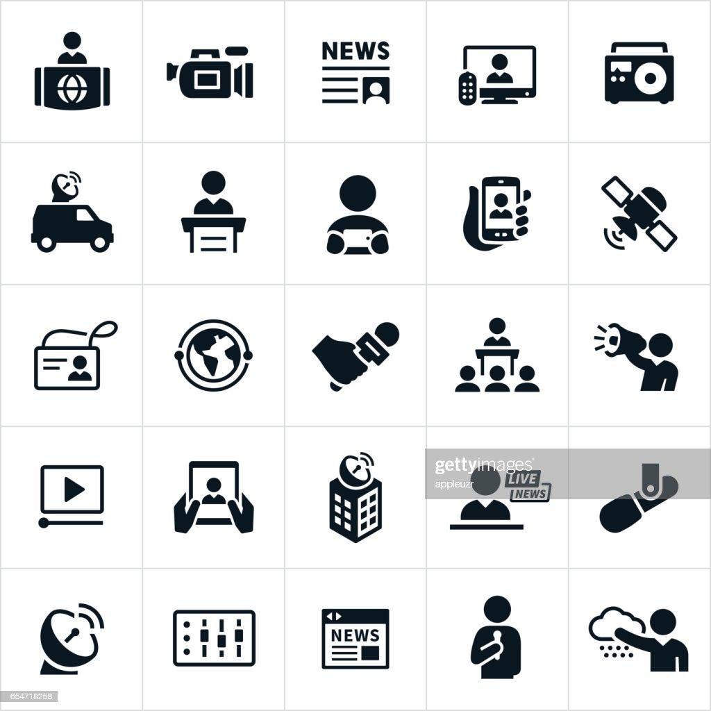 News Media Icons