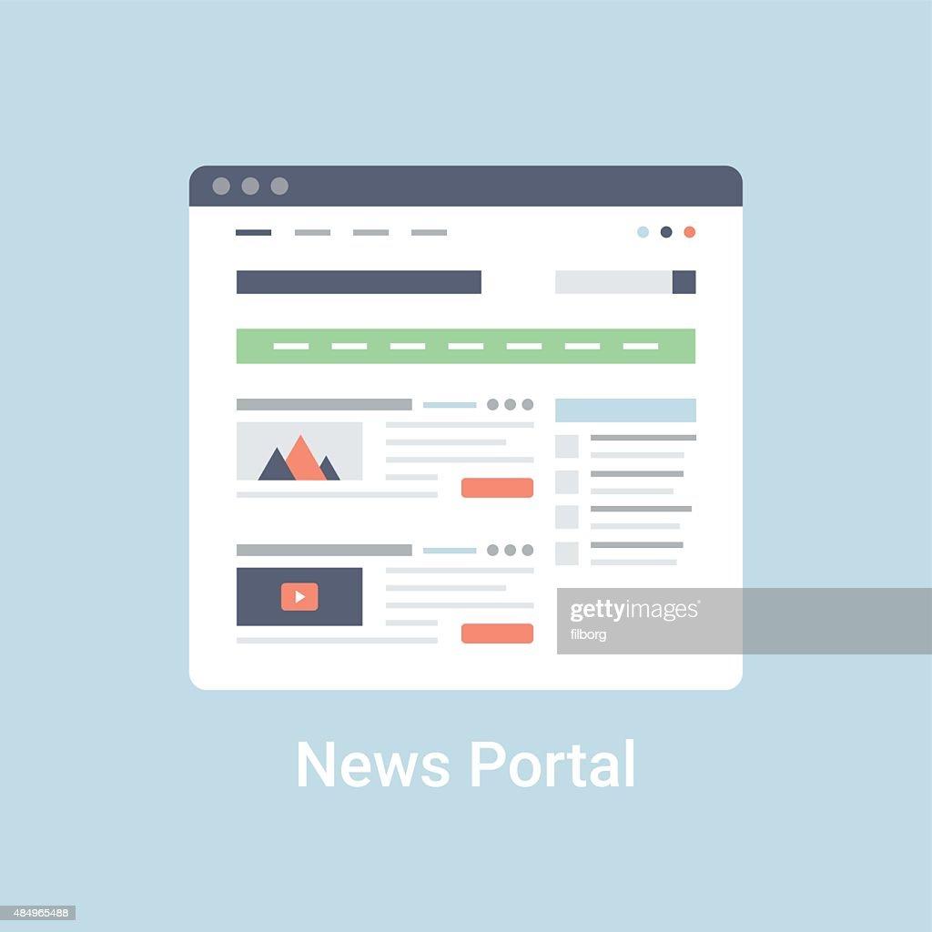 News Portal Wireframe